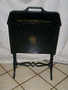 Black-Handpainted-Sewing-Cabinet-Stand