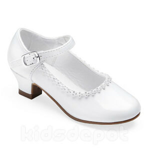 Flower Girls Rhinestone Kids Dress Shoes Pageant Formal