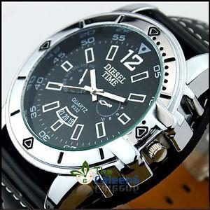 New-Leather-Fashion-Oversized-Men-Sport-Date-Quartz-Wrist-Watch-Senoras-Relojes