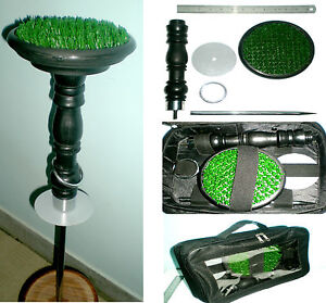 New-Falconry-Block-Perch-6-034-AstroTurf-with-Free-Meatpouch-Portable-6-in-1