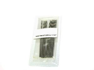 10pc-1-16-Drill-Bit-HSS-High-Speed-Steel-drilling-Metal-Wood-Plastic-Hoteche