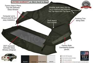 Ford Mustang Convertible Top Replacement Factory Style With Heated Glass 1994 04 Ebay