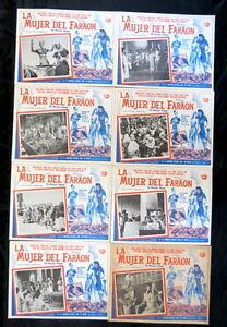 PHARAOHS-WOMAN-LA-DONNA-DEI-FARAONI-LINDA-CRISTAL-PIERRE-BRICE-LOBBY-CARD-SET