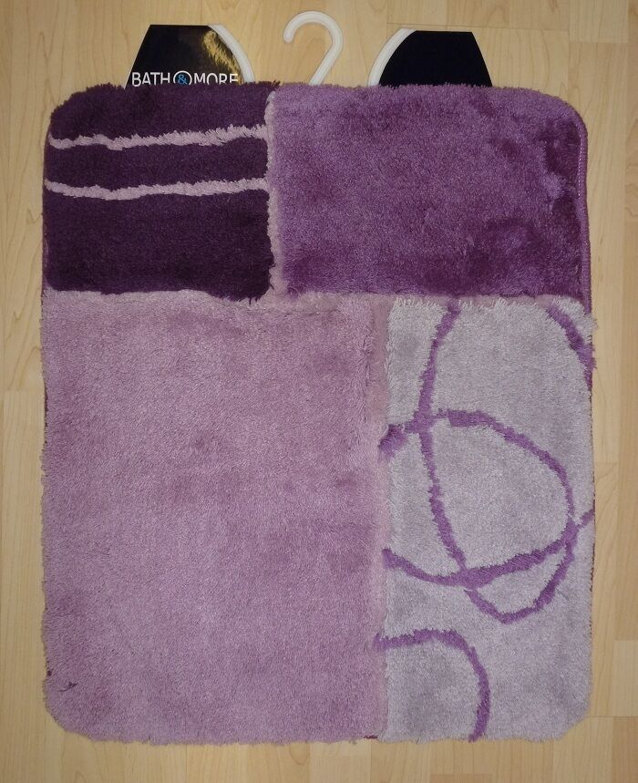 Badteppich Badematte Rhodos  Badmatte 80x150 cm lila