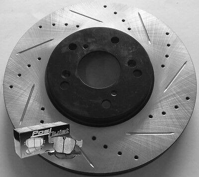 06-07 Mazda Mazdaspeed 6 Cross Drilled Slotted Brake Rotors Brake Pads F+R Set