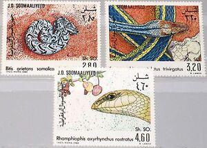 SOMALIA-1982-321-23-512-14-Schlangen-Local-Snakes-Fauna-Kriechtiere-MNH