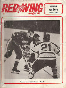 Detroit-Red-Wings-vs-Toronto-Program-Scorecard-January-8-1967