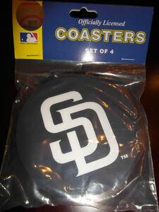 2-4-Packs-Vinyl-Drink-Coasters-San-Diego-Padres