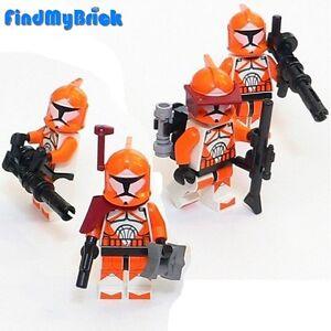 SW148-IV-x4-Lego-Star-Wars-4x-Bomb-Squad-Trooper-Minifigures-Lot-of-4-NEW-7913