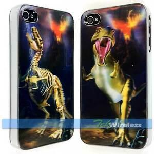 Dinosaur-T-Rex-Rex-3D-Hologram-Dual-Picture-Chrome-Hard-Snap-Case-iPhone-4-4S