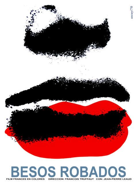 Besos robados stolen kisses vintage POSTER.Graphic Design.Art Decoration.3674
