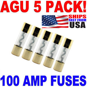 s l300 5 pack agu fuse 100amp gold plated 100 amp agu fuse fast free usa