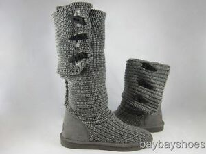 Gray Knit Bearpaw Boots BEARPAW-KNIT-TALL-14-0...