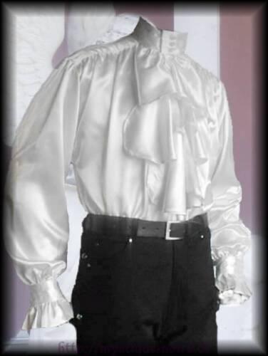 Rüschenhemd Hemd Draculas Dust Jabot Viktorianisch Steampunk Vampir weiß