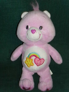 8-034-stuffed-purple-CARE-BEARS-beanbag-plush-BEST-FRIEND-BEAR-2006