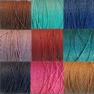 5yds-4-57m-WAXED-IRISH-LINEN-cord-thread-many-colours