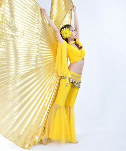 Brand-new-AQY-Handmade-Belly-Dance-Costume-IsIs-Angle-Polyester-Wings-4-colors