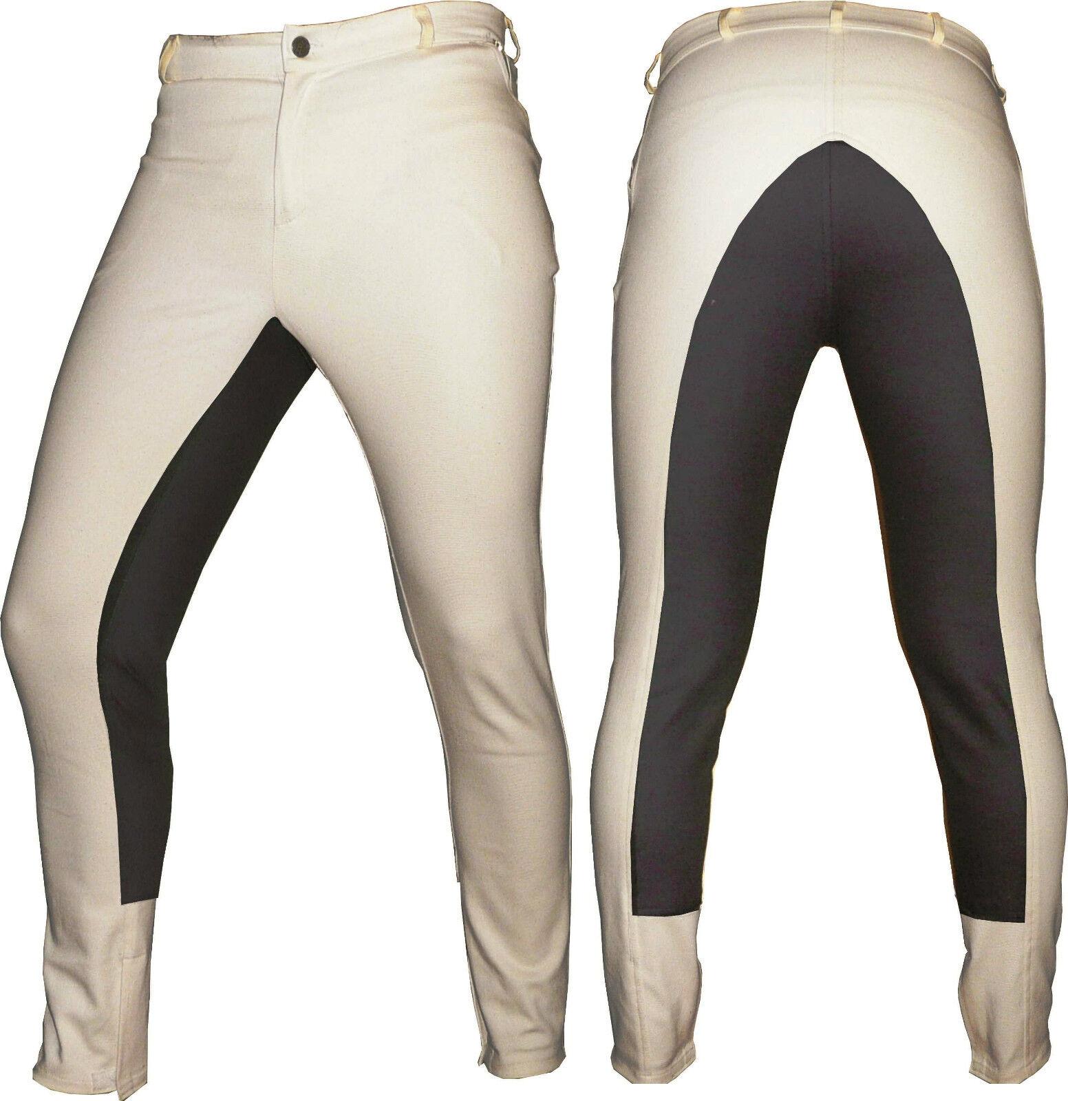 Beige / Braun Dressage Horse Riding Pants Seat Full Seat Pants Breeches breech & dressage 114976