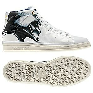 adidas-Originals-Star-Wars-Stan-Smith-80s-Mid-Shoes-size10-UK-9-5