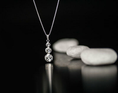 Neu ! Halskette  925 Silber mit SWAROVSKI ELEMENTS  Anhänger Farbe Crystal