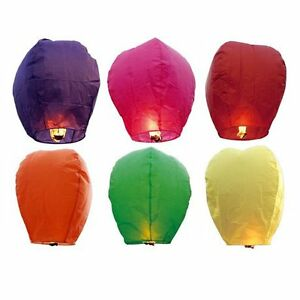 10x-Sky-Fire-Flying-Floating-Chinese-Sky-Lanterns-Assortment-of-Colors