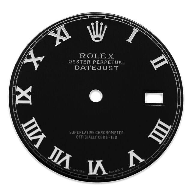 Rolex Mens Datejust Black Color Roman Numeral Dial