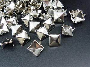 Pyramiden-Nieten-11x11mm-50-100-500-1000-Stueck-Pyramidennieten-Ziernieten-Punk