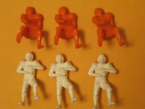 SIX-1950s-Kelloggs-Cereal-Plastic-Canadian-Football-Players-VERY-RARE