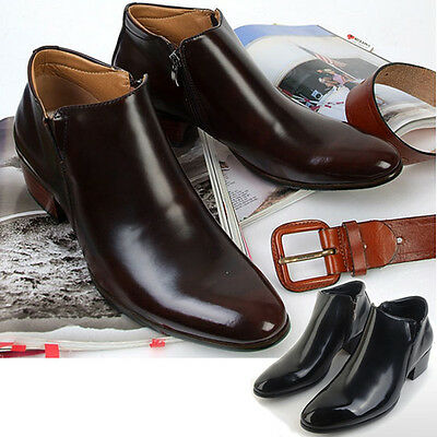 New Mens Dress Leather Shoes Formal Casual Ankle Boots Deluxe Multi Colored Nova