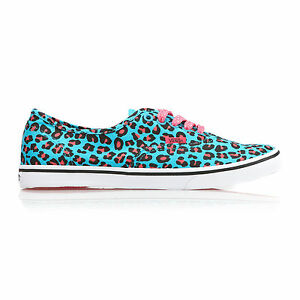 Blue-Cheetah-Print-Leopard-Vans-Authentic-lo-pro-Scuba-pink-trainers-all-sizes