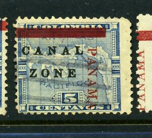 Canal Zone Scott #12 PANAMA Shift Variety Used Stamp (Stock #CZ12-16)