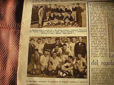 SALERNITANA REGGIANA SQUADRE AL COMPLETO 1936 LA DOMENICA SPORTIVA