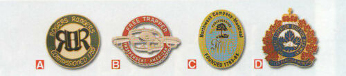 Old West Badges,Badge of the Fur Trade,Official US Metals,Gorgets,Reproduction*