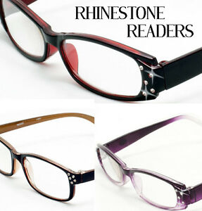 3-Pair-Rhinestone-Reading-Glasses-Mix-Color-Women-Designer-Fashion-Optical-Read