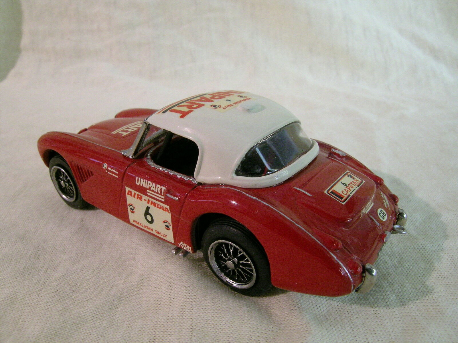 K&R UK AUSTIN-HEALEY 3000  HIMALAYAN RALLYE 6 RED RED RED WHITE HAND BUILT + BOX 1 43 deb053