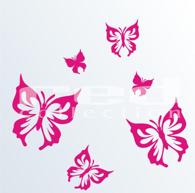 WANDTATTOO  Wand Aufkleber Butterfly 18 Schmetterlinge V09 redcollection