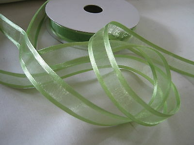 15mm SATIN EDGE ORGANZA RIBBON  good colour selection  25 yd reel
