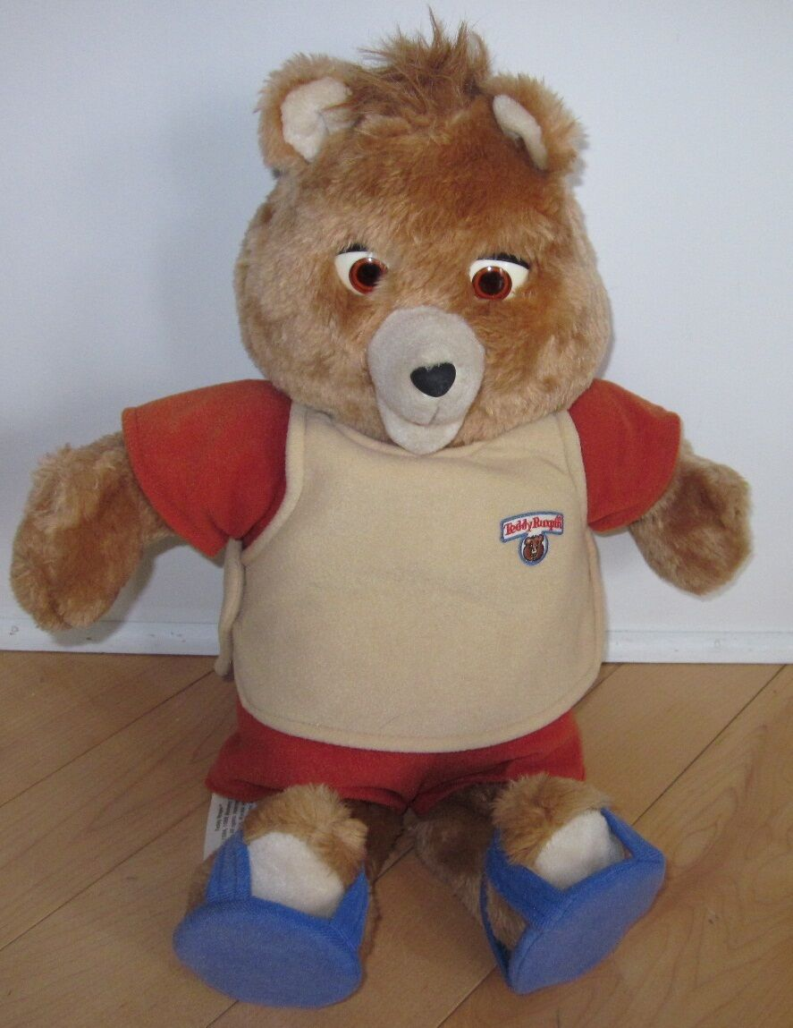 1985 Teddy Ruxpin Bear Fully Clothed w  Sandal schuhe