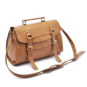 Women-Leather-Buckle-Satchel-Shoulder-bag-Tote-Purse-Messenger-Bag