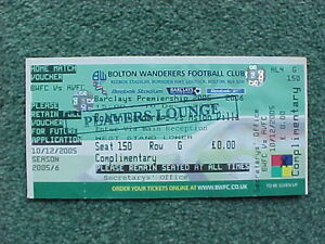 2005-6-Bolton-Wanderers-v-Aston-Villa-Complete-Complimentary-Ticket-GOOD