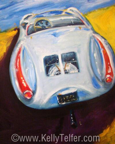 "/'2 Cool Two/' Vintage Racing Porsche 550 Spyder 16/"" X 20/"" Ltd Editon Art Print"