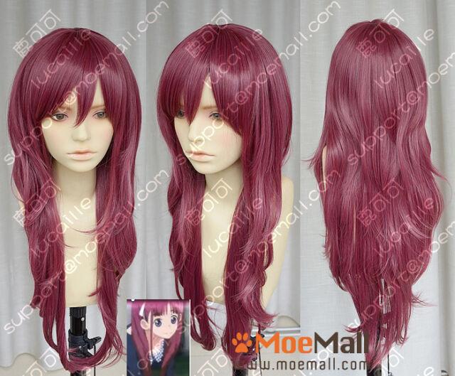 AKB0048 Kashiwagi Yuki Yukirin Purplish Red Lolita Cosplay Party Wig