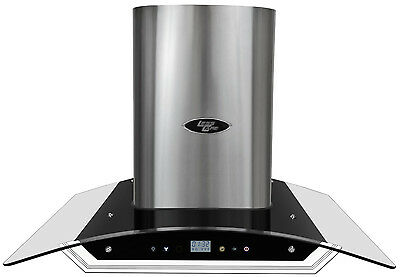 """Range Hood Wall Mount 30"""" Glass Canopy LH2-30G by LessCare"""