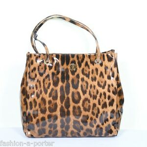 Image Is Loading Roberto Cavalli Signature Leopard Tote Per Beach Bag