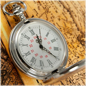 Antique-Style-Silver-Quartz-Pocket-Watch-On-Chain-001S