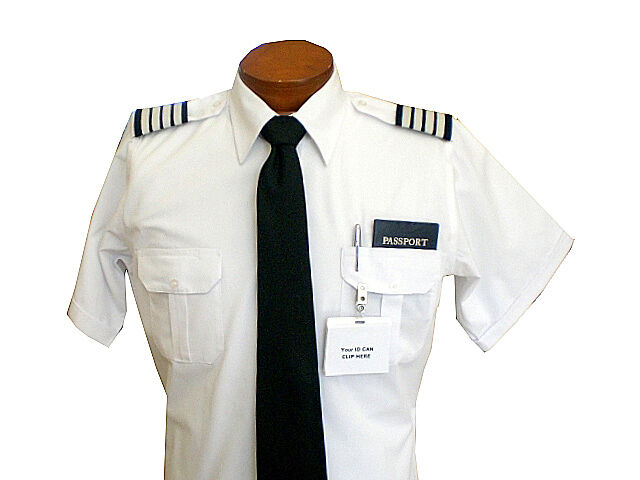 Pilot Uniform Shirt - Men's Short Sleeve Shirts for the Professional Pilot