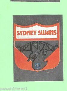 1983 SCANLENS VFL STICKER - #142 SYDNEY SWANS FOIL EMBLEM