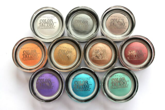(1) MAYBELLINE *COLOR TATTOO* 24-HOUR CREAM EYESHADOW *PICK ANY SHADE YOU WANT*