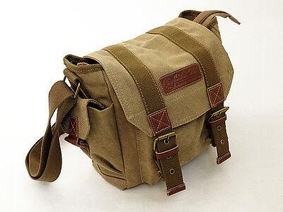 Courser Canvas Shoulder Bag Case For Canon Nikon Panasonic Digital SLR Cameras