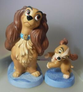 WALT-DISNEY-CLASSICS-WELCOME-HOME-LADY-AND-PUPPY-2-PC-1217766-MINT-amp-REDUCED